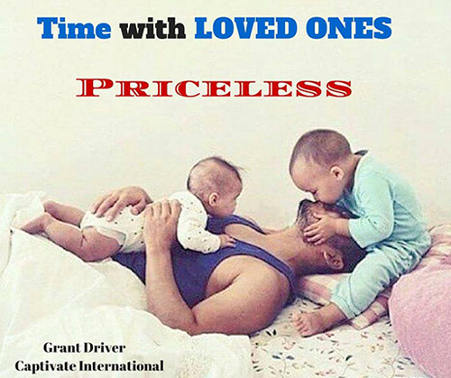 Time with loved ones is priceless