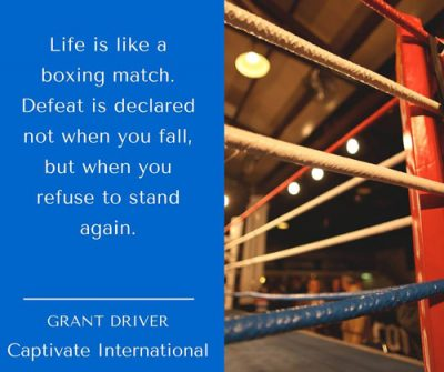 Life is like a boxing match