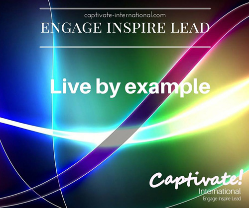 live by example
